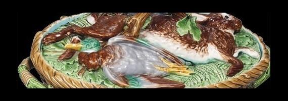 Majolica, Asparagus plates